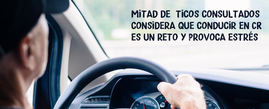 Mitad de  ticos consultados considera que conducir en CR es un reto y provoca estrés